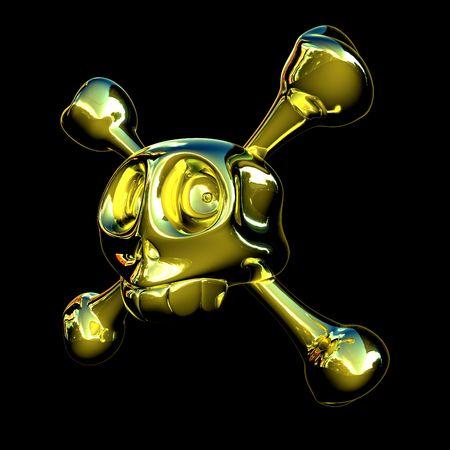 Golden skull Stock Photo - 476192