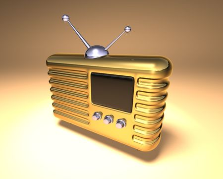 bakelite: Retro radio Stock Photo