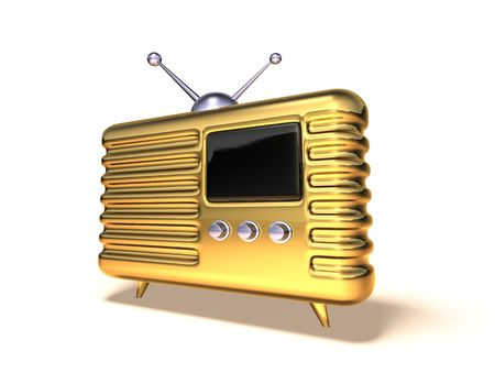 airwaves: Retro radio Stock Photo