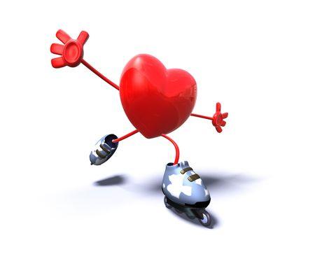 Corazón patinaje