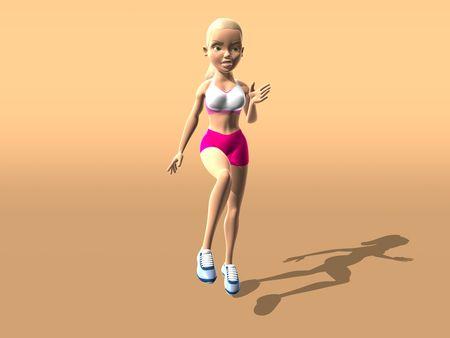 bendable: Fitness girl