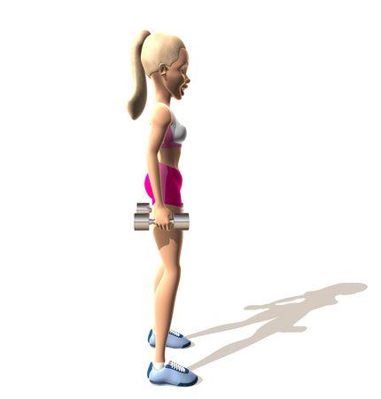 bendable: Fitness girl : shoulders