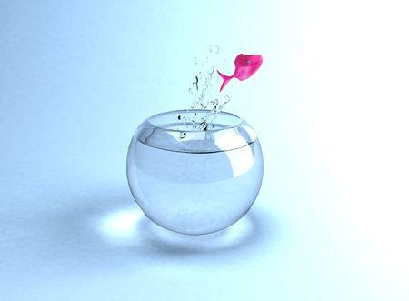 goldfish jump: Jumping fish Stock Photo