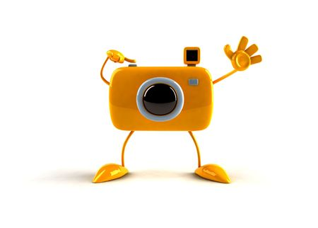 3D camera with hands and feet Stock Photo - 869844