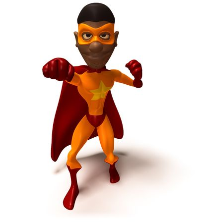 crime fighter: Black superhero