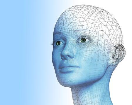 3D woman photo