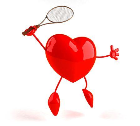 jugando tenis: Coraz�n jugar al tenis
