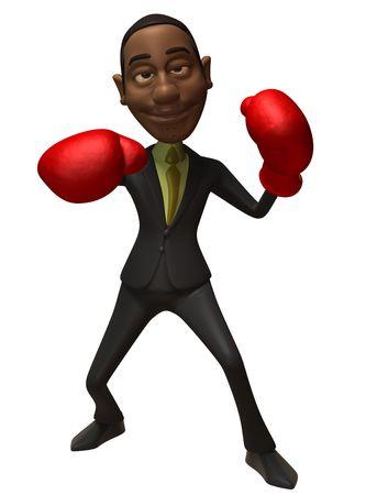 black business man: Black Business homme lutte contre la