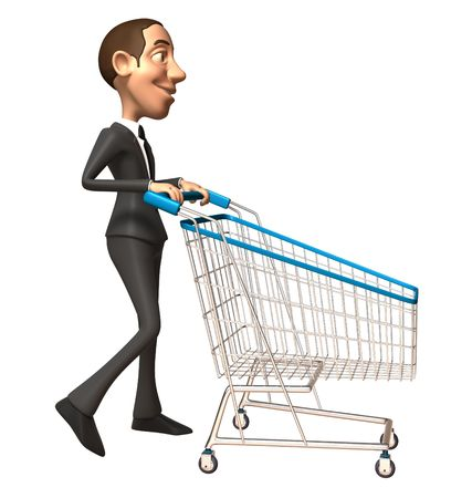 Business man shopping Stock Photo - 3981896