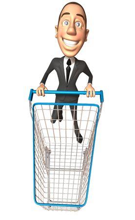 bought: Business man shopping