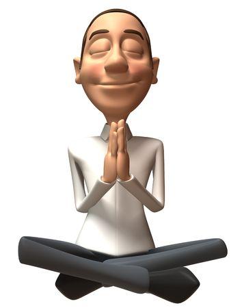 serene: Zen guy Stock Photo