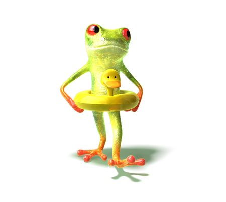 Fun frog Stock Photo - 3972820