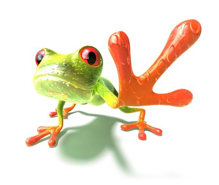 slimy: Frog Stock Photo