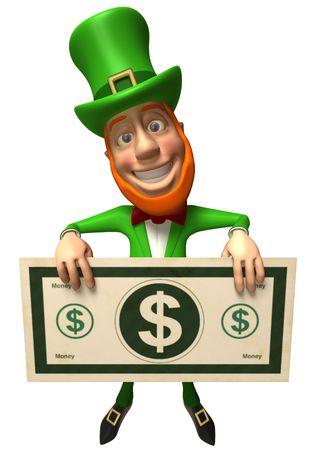 Ierse elf van iets folklore Stockfoto