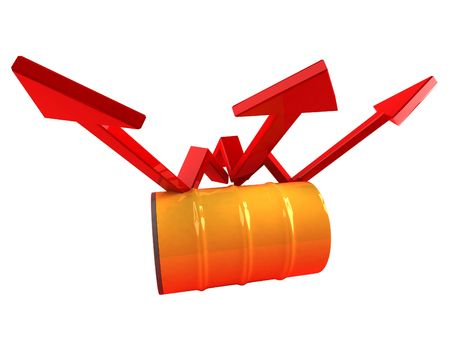 Price of oil going up Stock Photo - 3329271