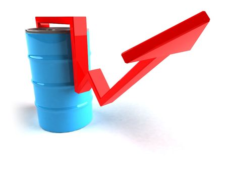 Price of oil going up Stock Photo - 3329262