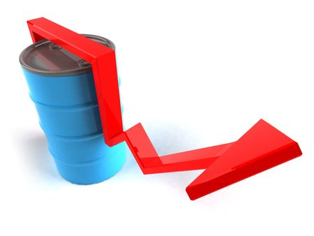 Price of oil going up Stock Photo - 3329265
