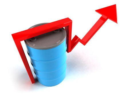 Price of oil going up Stock Photo - 3329275
