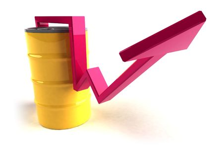 Price of oil going up Stock Photo - 3329251