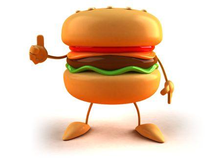 Hamburgers Standard-Bild