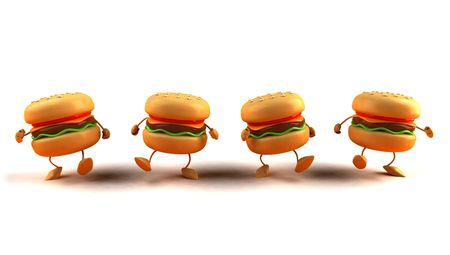 american cuisine: Hamburgers Stock Photo