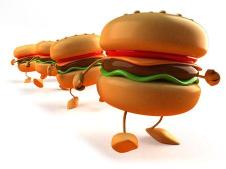 Hamburger Standard-Bild - 3329284