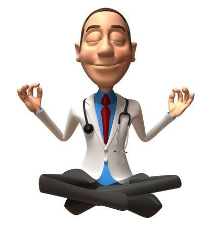 Fun Arzt Zen Standard-Bild - 3333051