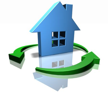 Green home Stock Photo - 3333056