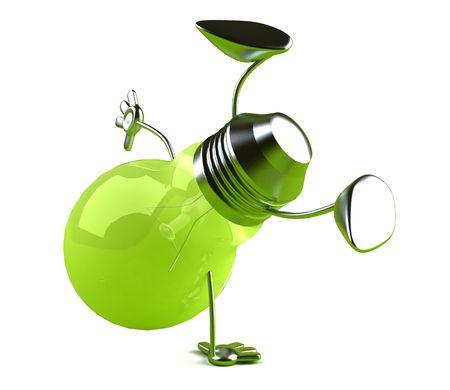 Groene idee Stockfoto