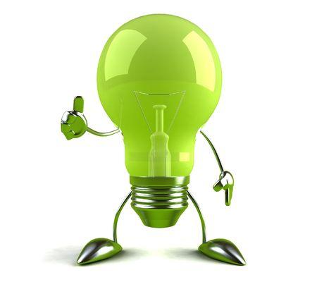 Grüne Idee Standard-Bild - 3332977