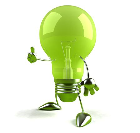 Grüne Idee Standard-Bild - 3332960