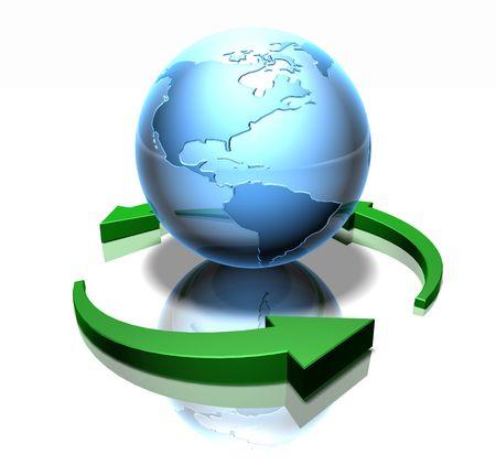 Grüne Welt Standard-Bild - 3333074