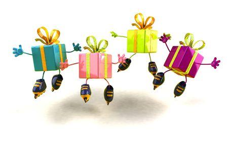 Geschenke Rollerskating Standard-Bild - 3333017