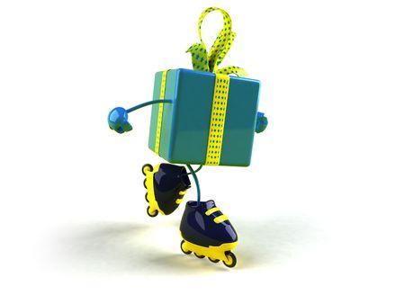 hanukah: Gift rollerskating