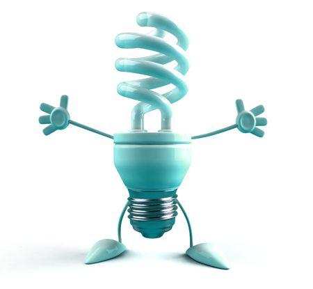 Energieeinsparung Lightbulb  Standard-Bild - 3321432