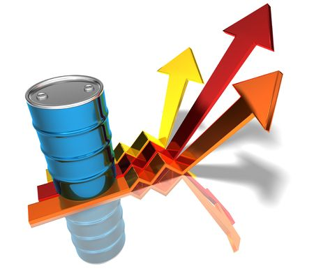 Price of oil going up Stock Photo - 3321797