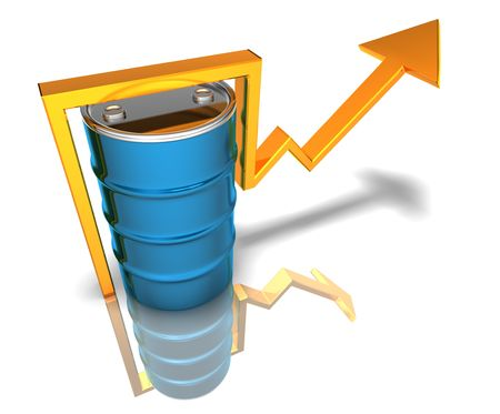 Price of oil going up Stock Photo - 3321790
