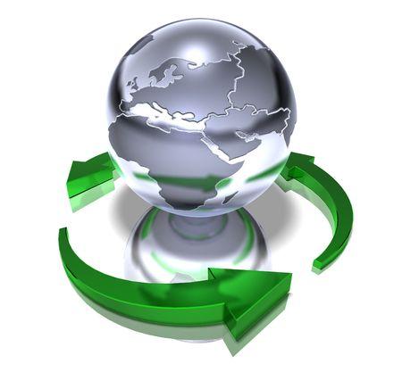 Welt recyceln  Standard-Bild - 3321727