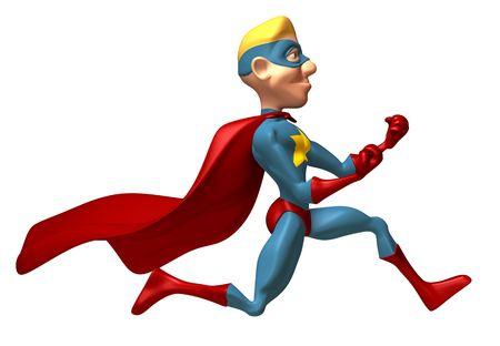 toughness: Superhero Stock Photo