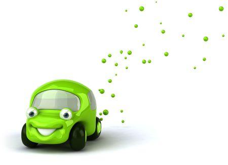 3d mode: Green car