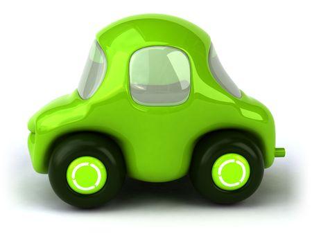 air pollution cartoon: Green car