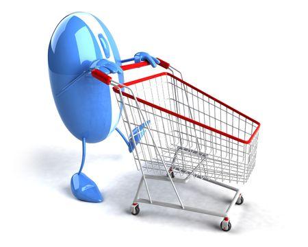 Online winkelen Stockfoto