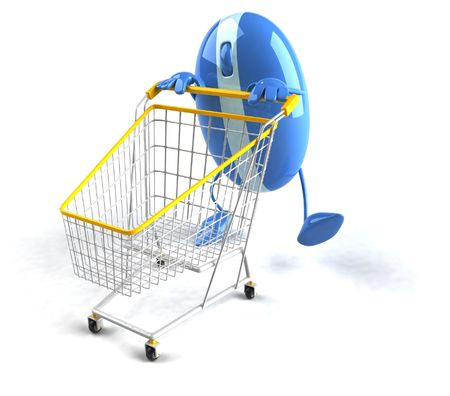 bought: Shopping online Stock Photo