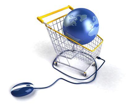 Shopping online Standard-Bild
