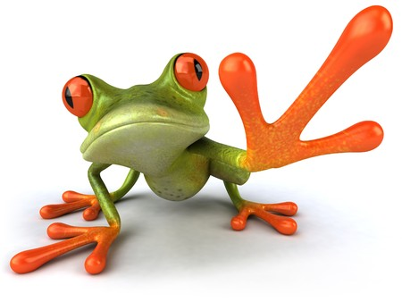 frog illustration: Fun frog