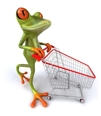 grenouille: Shopping grenouille Banque d'images