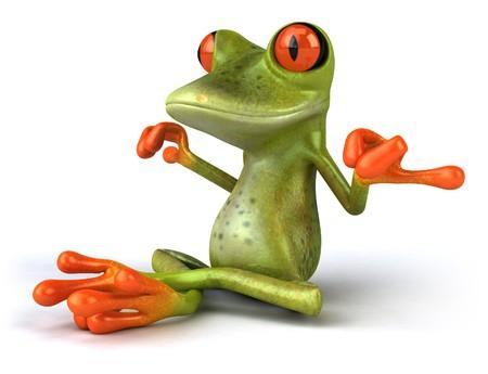 Zen-Frosch  Standard-Bild - 4012745
