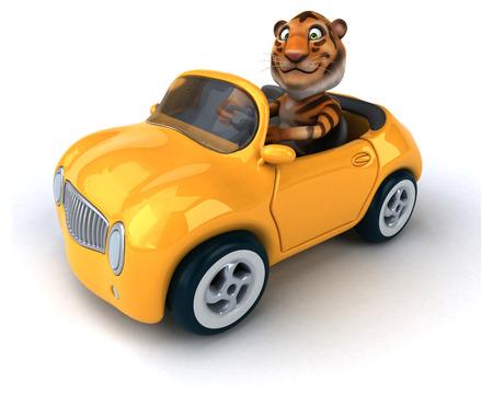 zoo traffic: Fun tiger Stock Photo