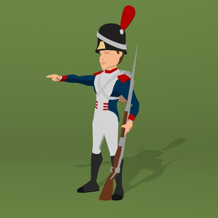 waterloo: Napoleonic soldier