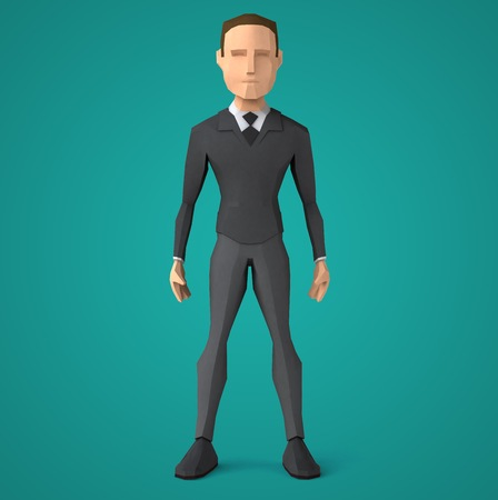 low poly: Low poly business man Stock Photo